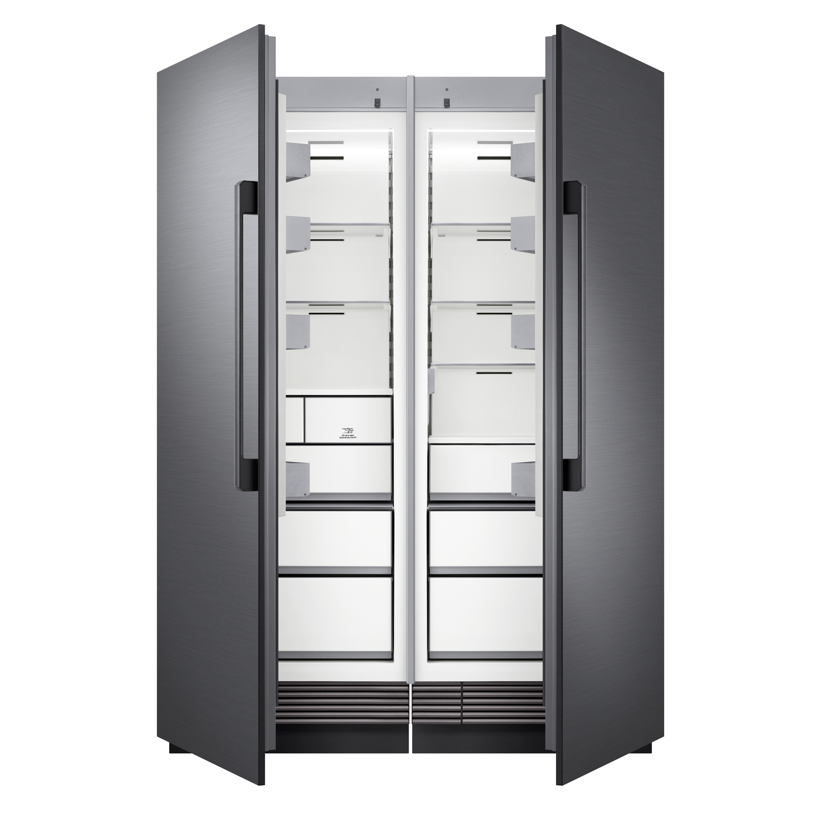 DRR30990RAP(DRZ30990LAP)_004_Fridge-Freezer_Front_Half-Open_Black.jpg